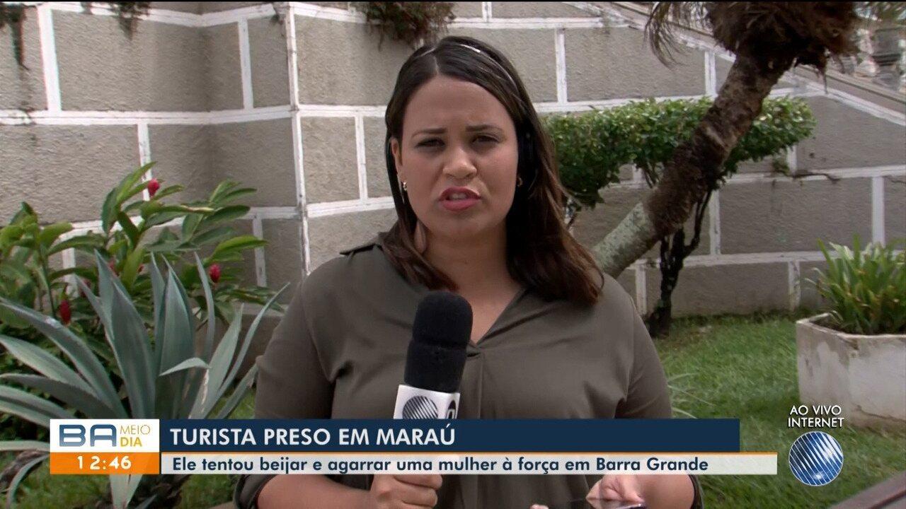 Turista é preso suspeito de beijar e agarrar mulher à força em Barra Grande
