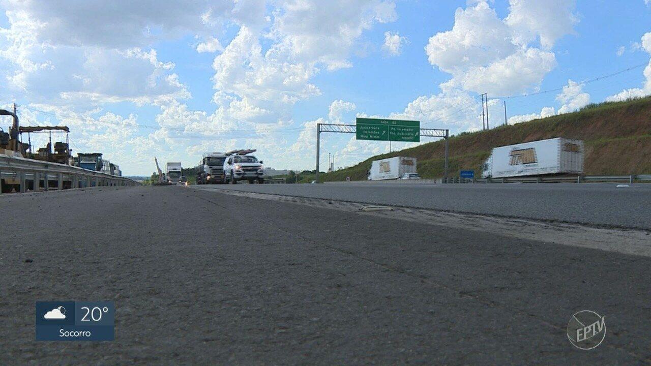 Bloqueio total de pista expressa na Rodovia Dom Pedro I preocupa motoristas