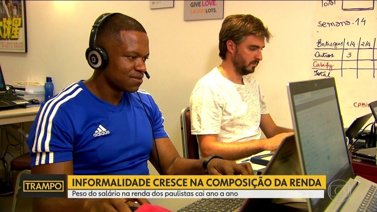 Informalidade cresce na composição da renda dos paulistas