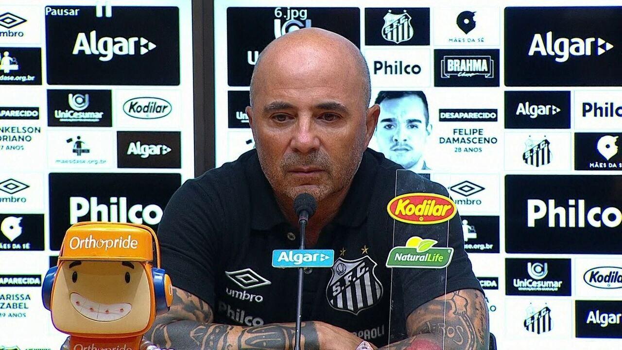 Veja a entrevista completa de Sampaoli após a classificação do Santos na Copa do Brasil
