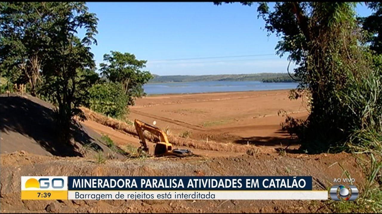 Mineradora é fechada por problemas na documentação, em Catalão