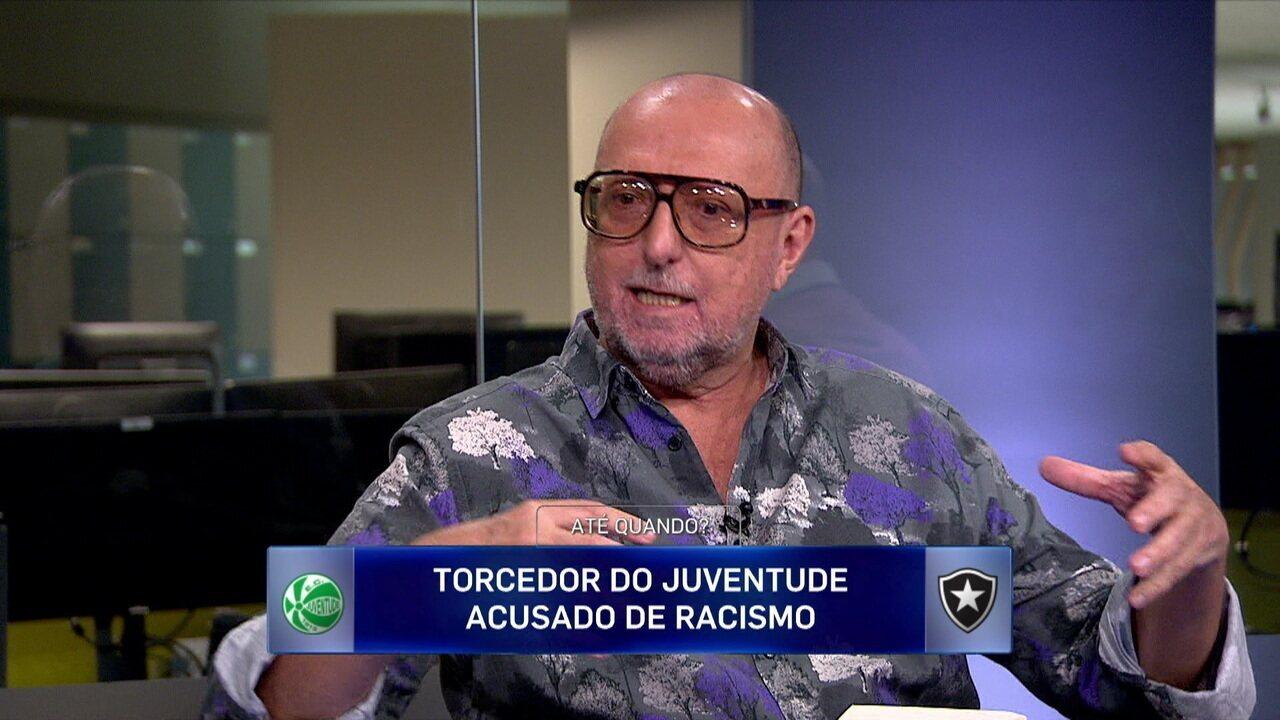 Torcedor do Juventude é ausado de racismo na vitória do clube sobre o Botafogo na Copa do Brasil