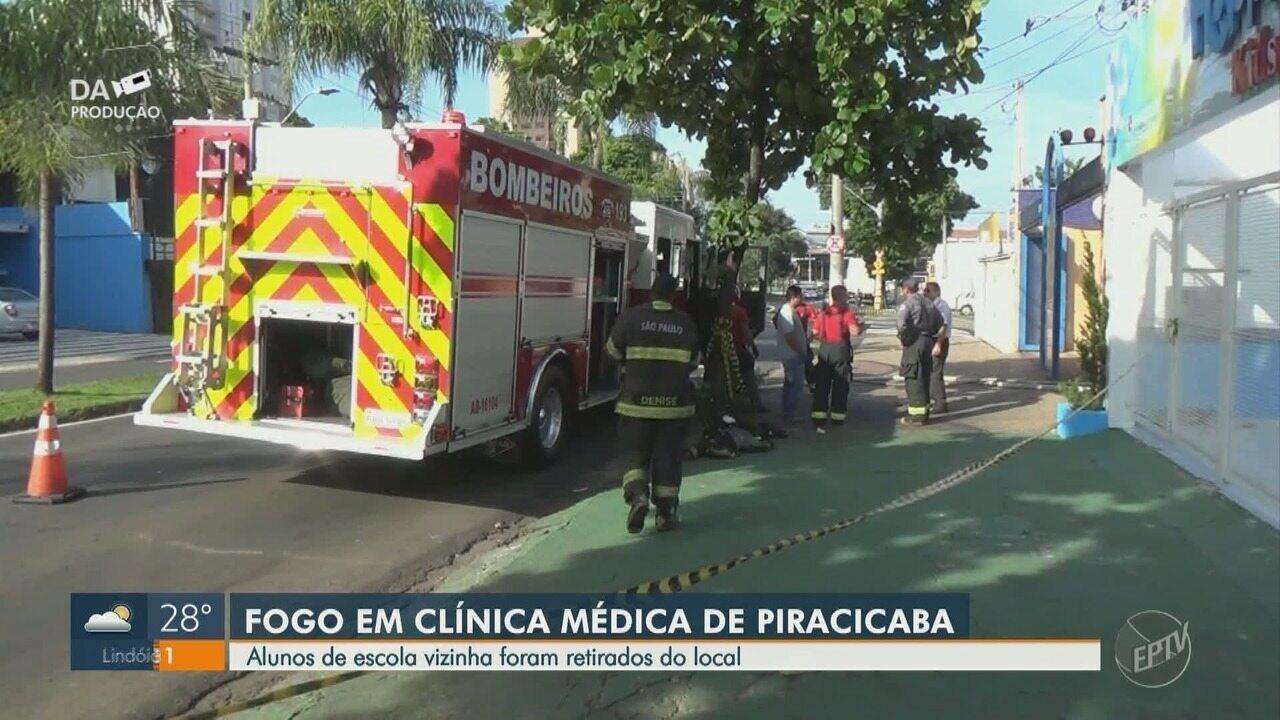 Clínica médica de Piracicaba pega fogo após falha no ar condicionado