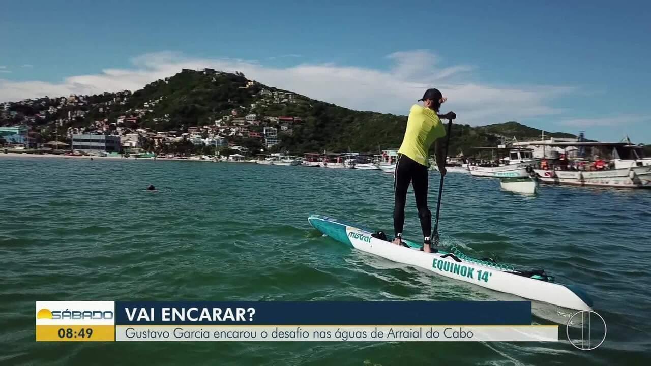 'Vai Encarar?' traz desafio de Stand Up Paddle nas águas de Arraial do Cabo