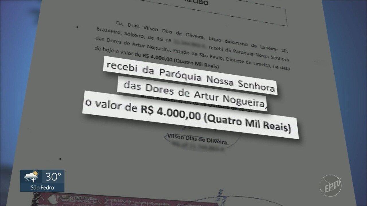 Bispo de Limeira pediu R$ 50 mil a igreja para comprar imóvel particular, diz inquérito