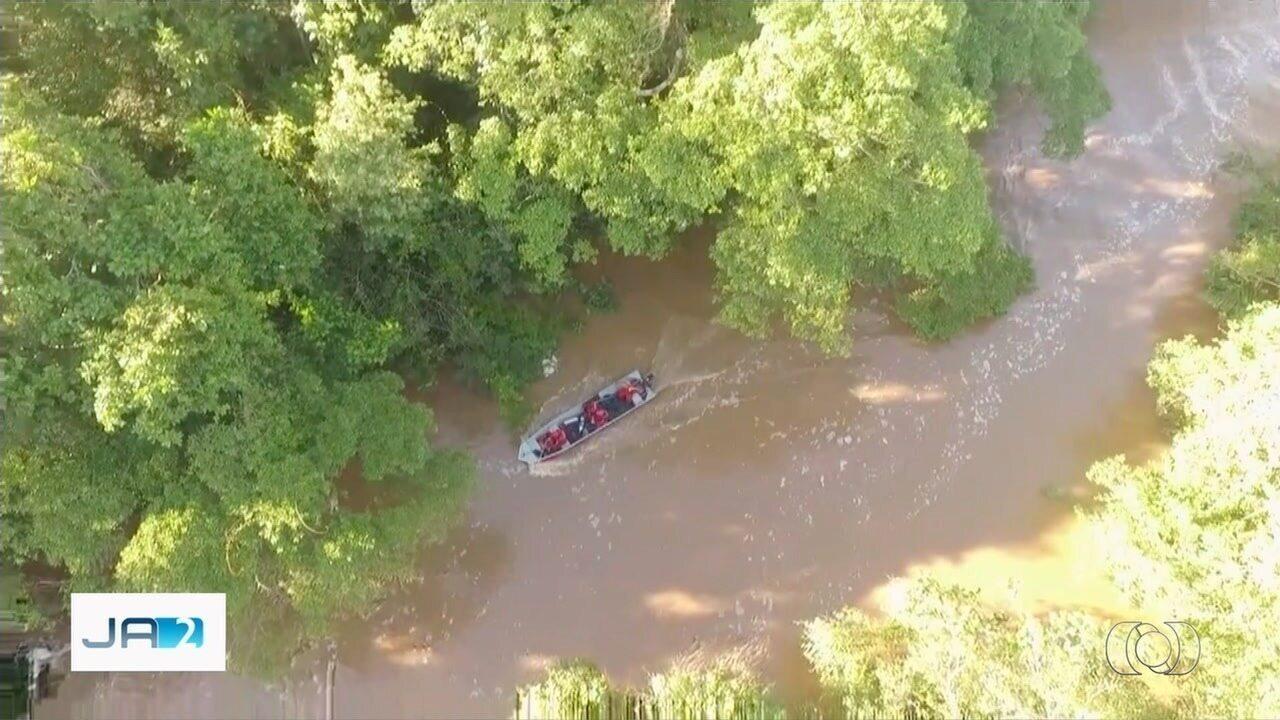 Bombeiros encontram corpo de funcionário da Saneago que tinha sumido no Rio Meia Ponte