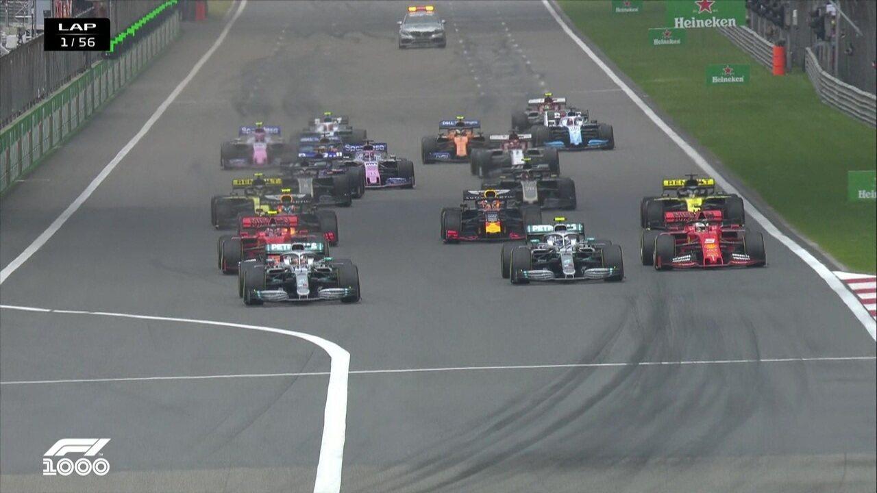 Confira a largada do GP da China de Fórmula 1
