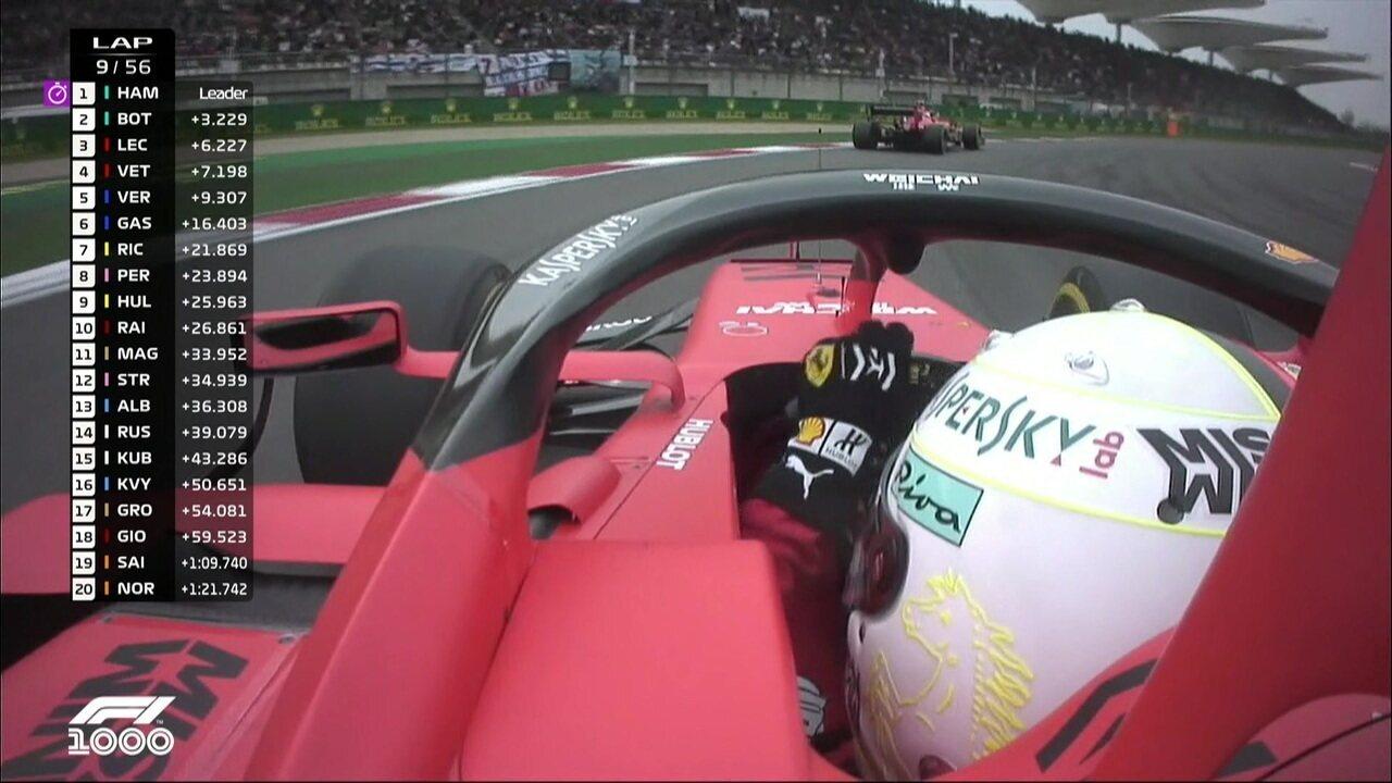 Vettel diz à equipe que está tentando chegar mais perto