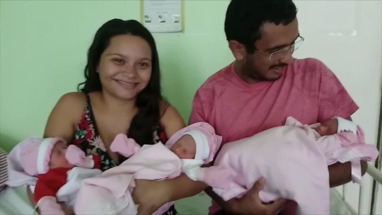 Esperando gêmeos, mãe descobre terceira filha na sala de parto no Piauí