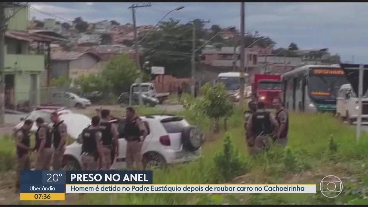 Polícia atira em pneu de carro roubado e prende suspeito no Anel Rodoviário, em BH