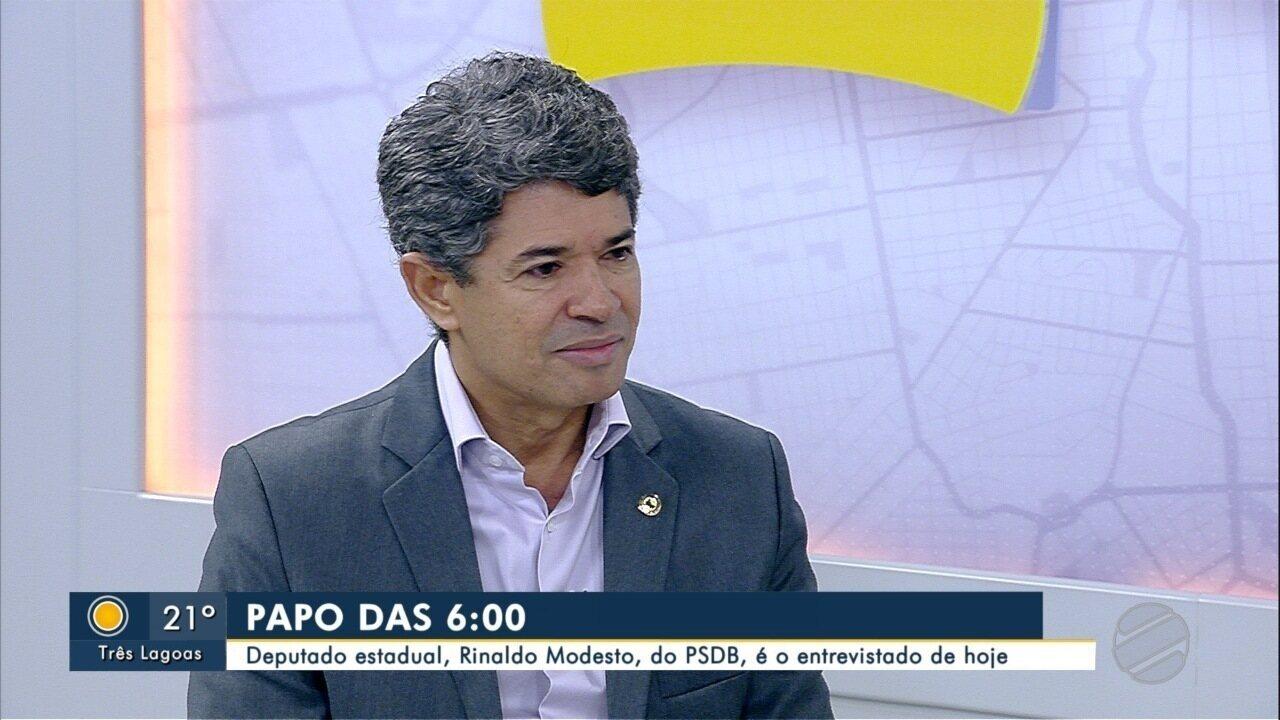Deputado estadual de MS, Rinaldo Modesto (PSDB) é o entrevistado do Papo das 6