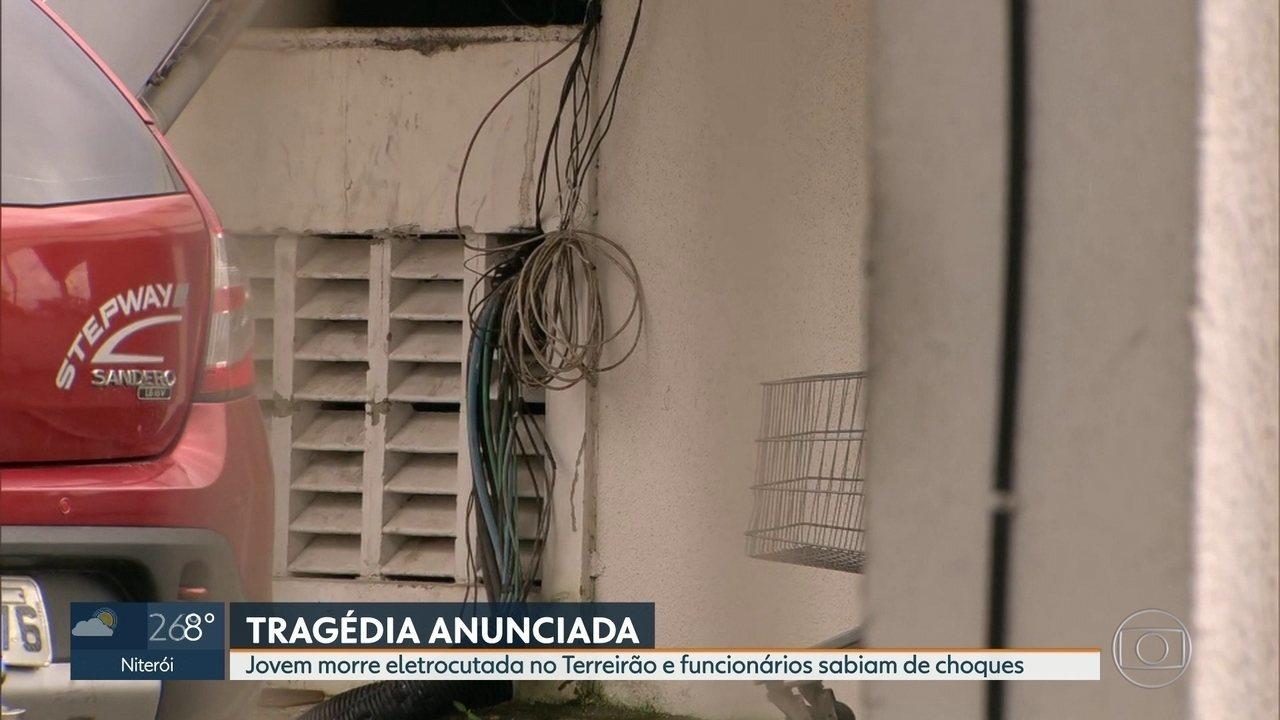 Jovem morre eletrocutada em evento no Terreirão do Samba e funcionários sabiam dos choques