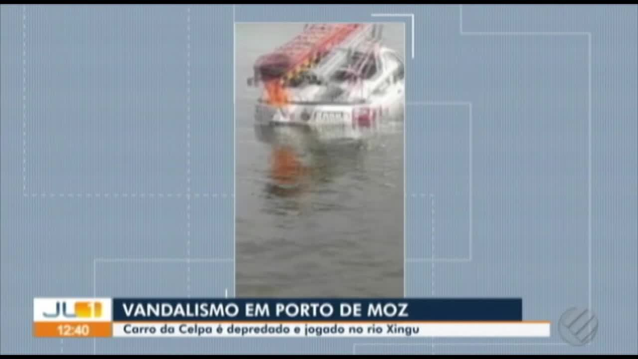 Moradores de Porto de Moz, no Pará, quebram carro da Celpa em protesto
