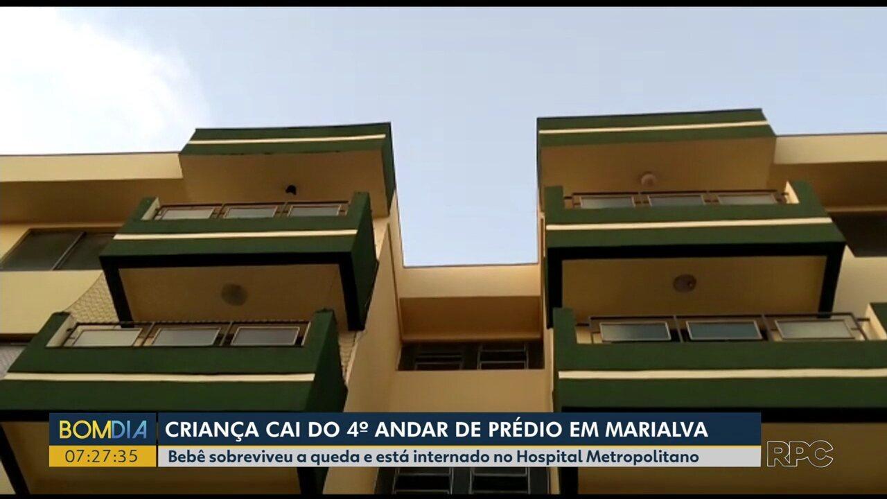 Criança cai do 4º andar de prédio e sobrevive