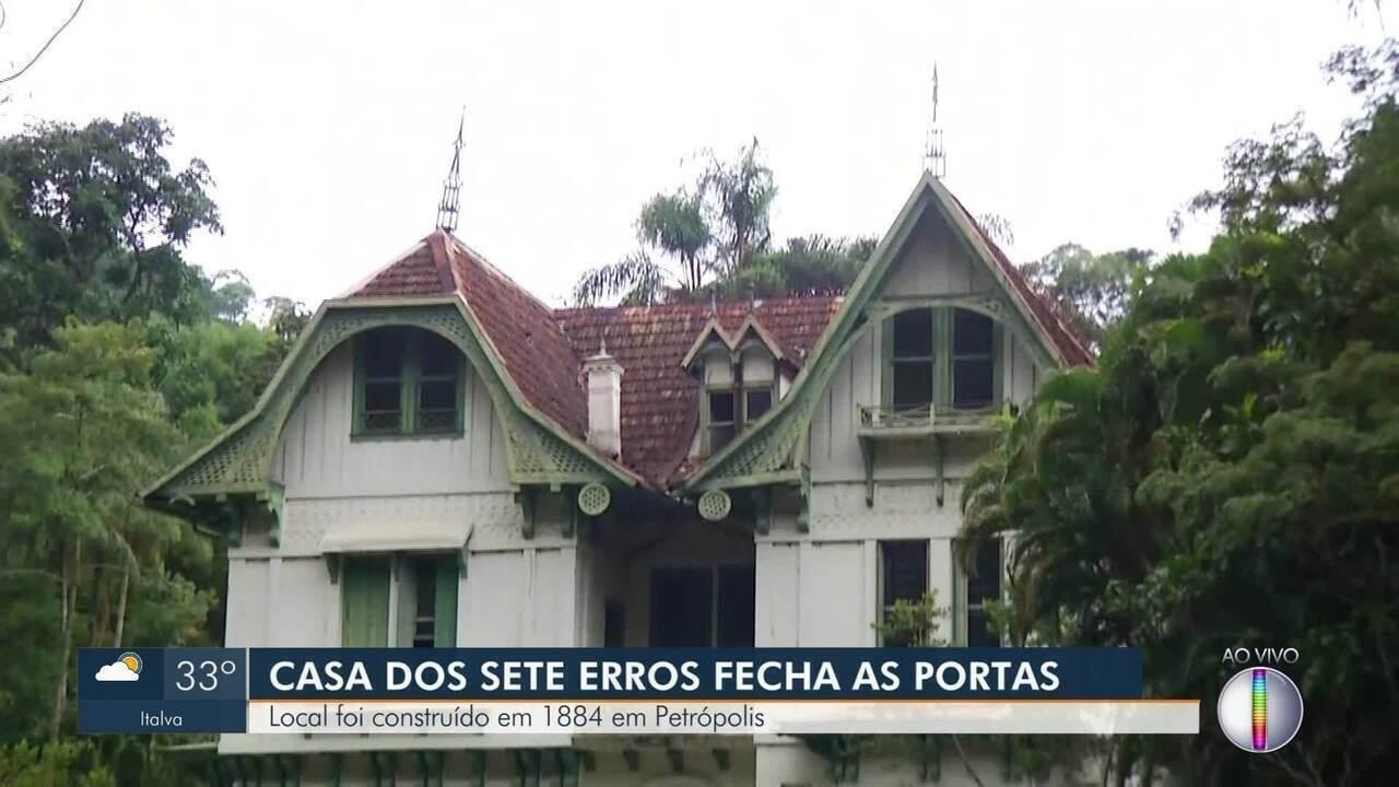 Casa dos Sete Erros, em Petrópolis, encerra as atividades de visitação
