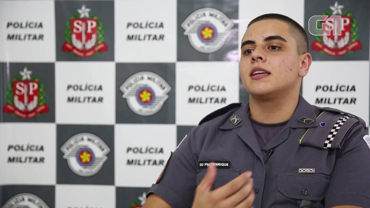 VEJA VÍDEO: PM de São Paulo tem o 1º policial transexual de sua história (Imagens: Marcelo Brandt/G1)