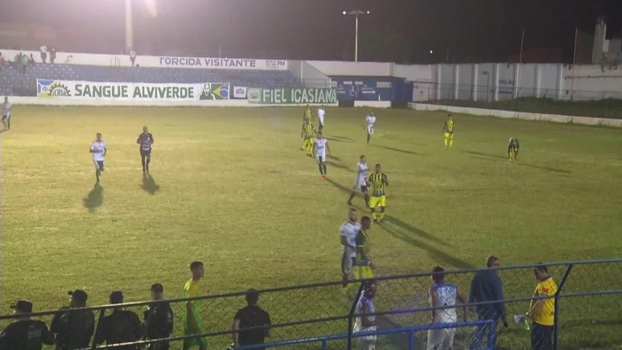 Por falta de bola, jogo da Série B do Cearense é encerrado aos 44 do 2º tempo