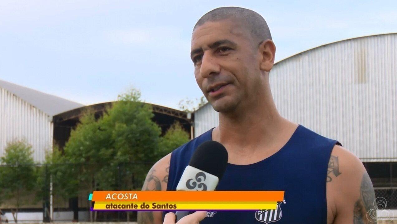 Após três anos longe, Acosta volta a vestir a camisa do Santos-AP