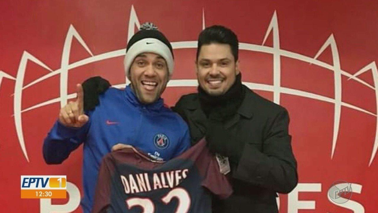 Cantor sertanejo de Ribeirão Preto faz parceria com jogador Daniel Alves
