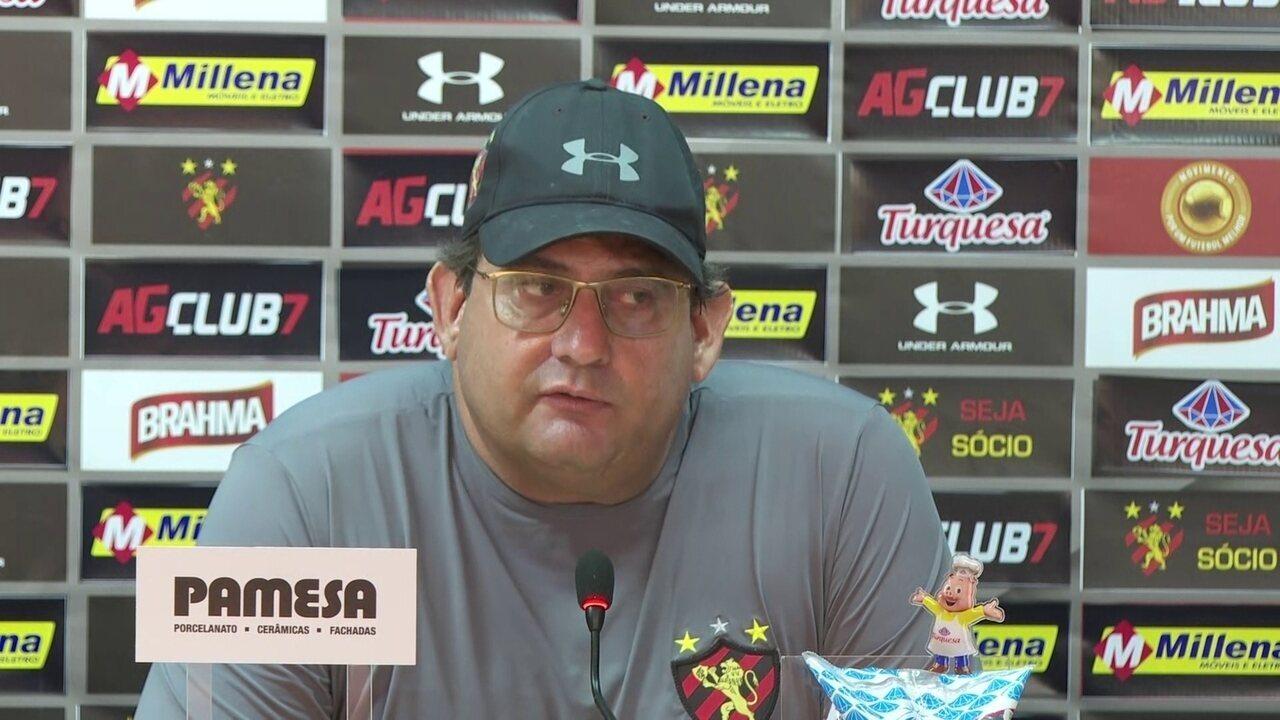 Guto Ferreira fala sobre ausência de Ezequiel em treinos da semana do Sport
