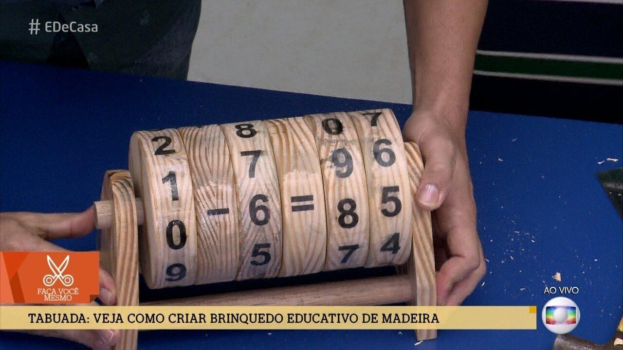 Aprenda a fazer uma tabuada de madeira