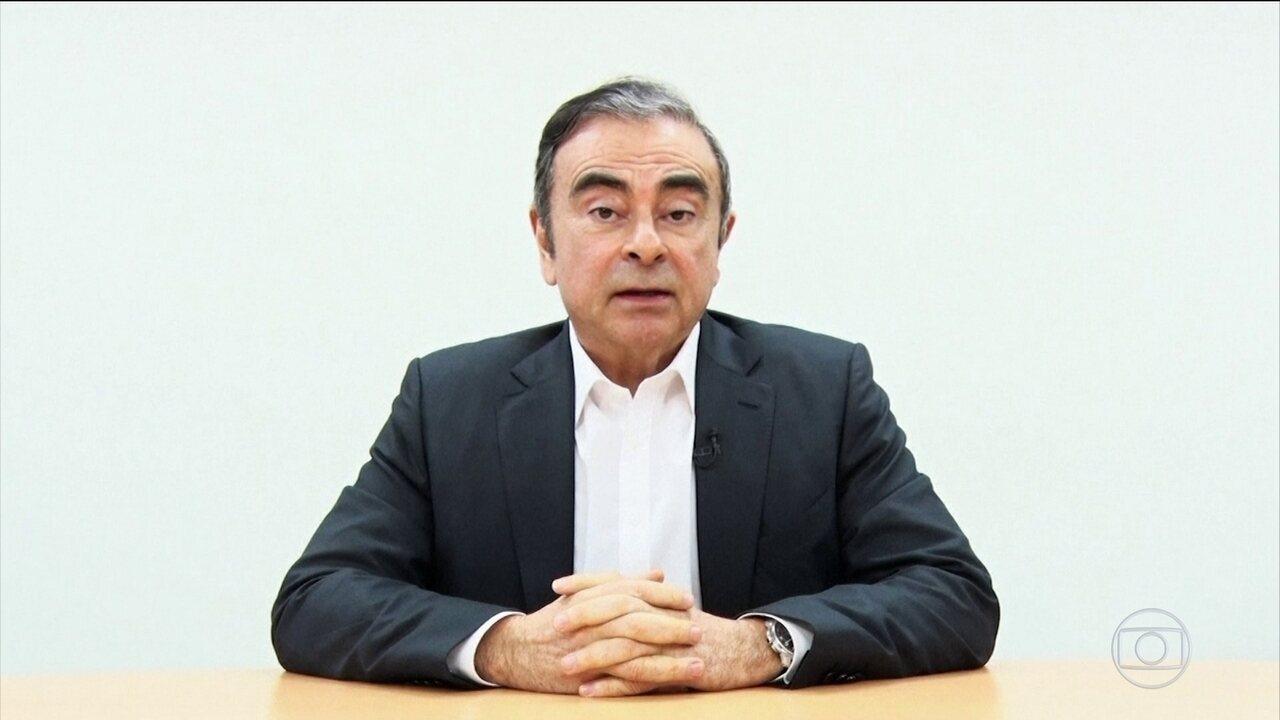 Justiça do Japão apresenta nova denúncia contra Carlos Ghosn
