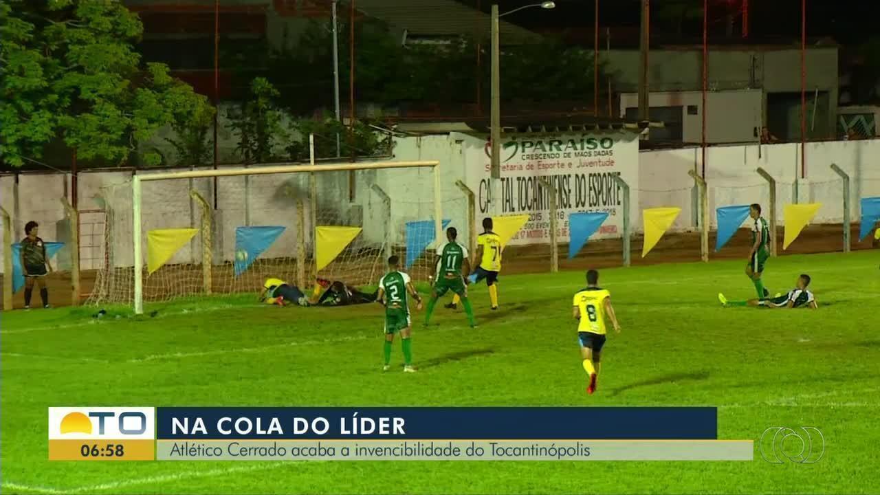 Atlético Cerrado vence o Tocantinópolis no Estádio Pereirão; veja os gols