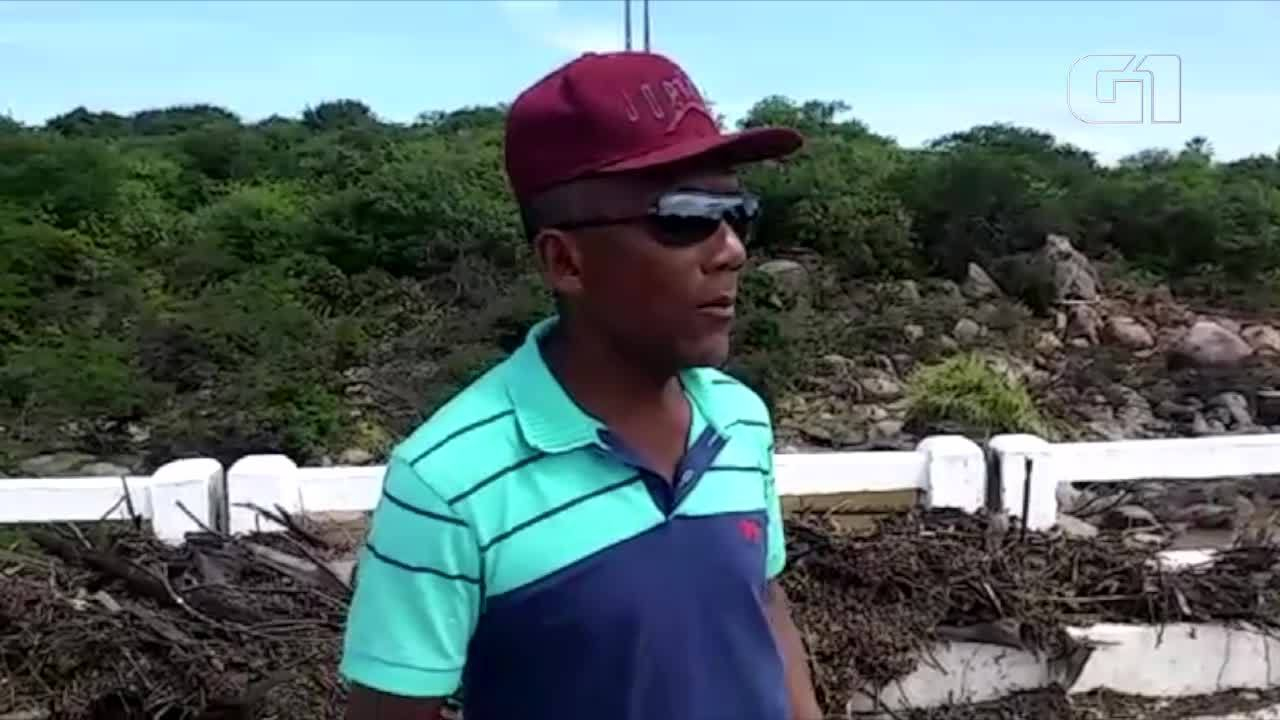 'Momento de pânico', diz homem arrastado por enxurrada que destruiu ponte no RN