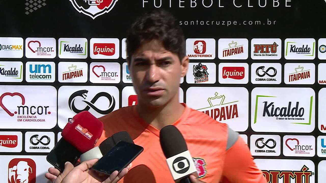 Confira a entrevista coletiva de Marcos Martins, do Santa Cruz