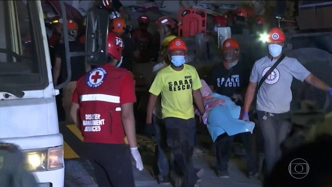 Terremoto deixa oito mortos nas Filipinas