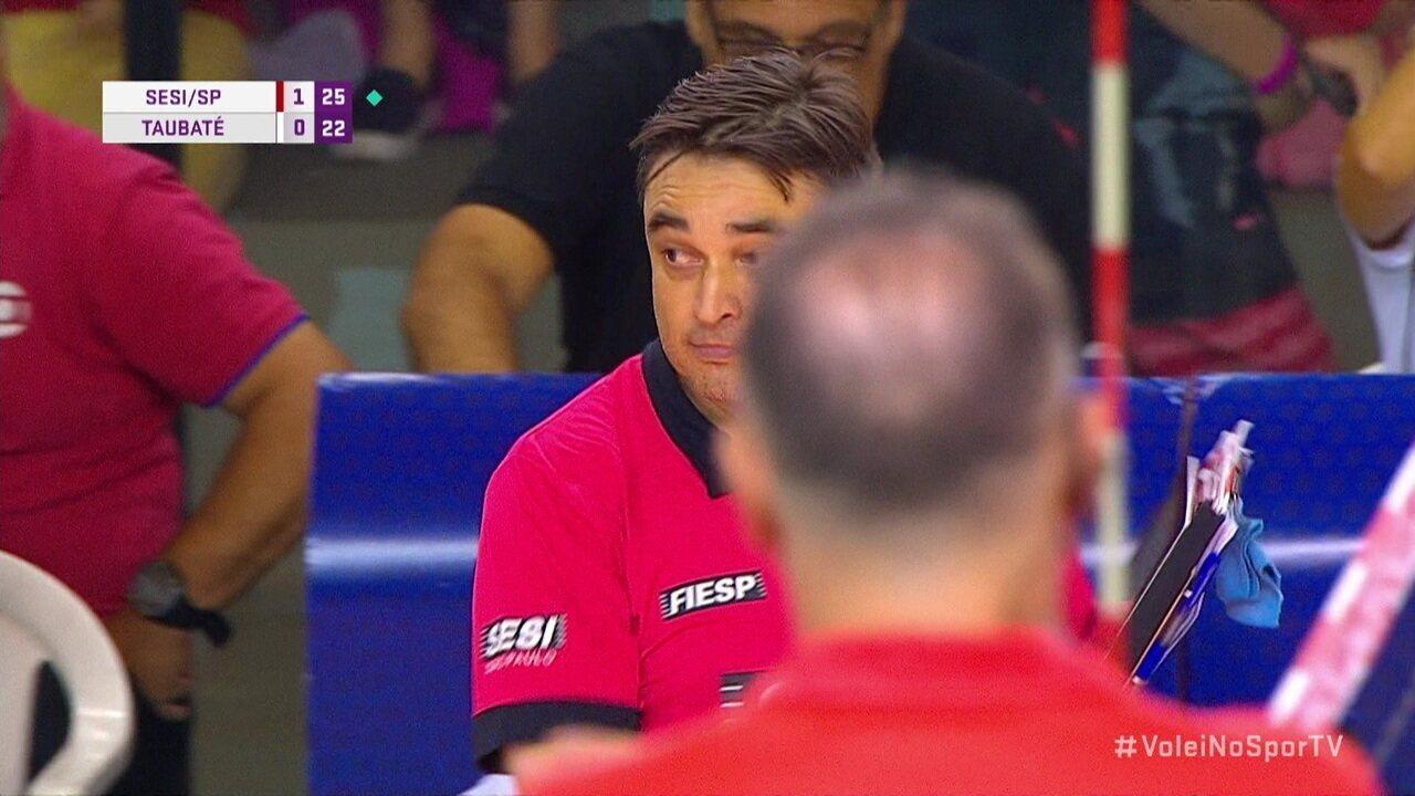 Melhores momentos: Sesi-SP 3 x 0 Taubaté pela Superliga masculina de vôlei