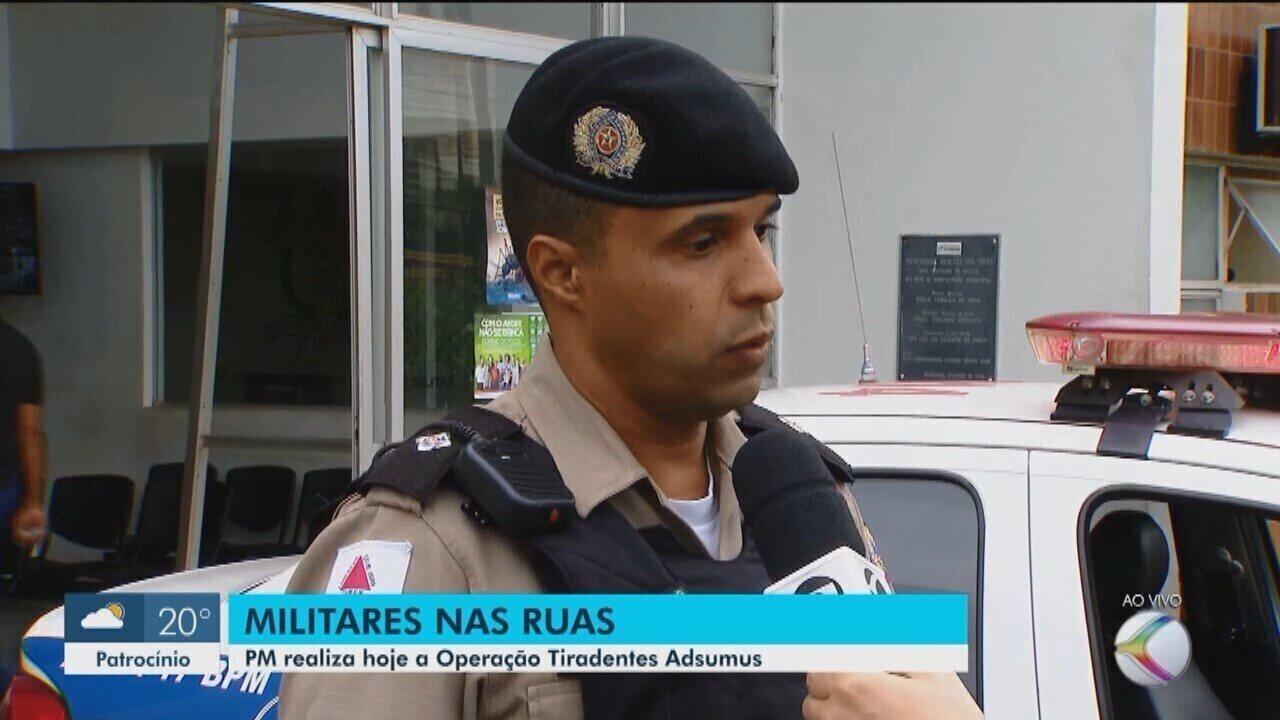 Operação estadual 'Tiradentes Adsumus' também é feita pela PM em Uberlândia