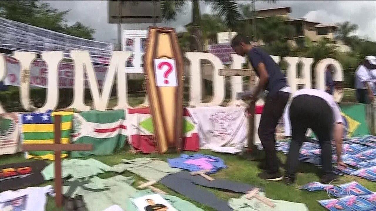 Tragédia em Brumadinho completa três meses e famílias fazem protesto para lembrar a data