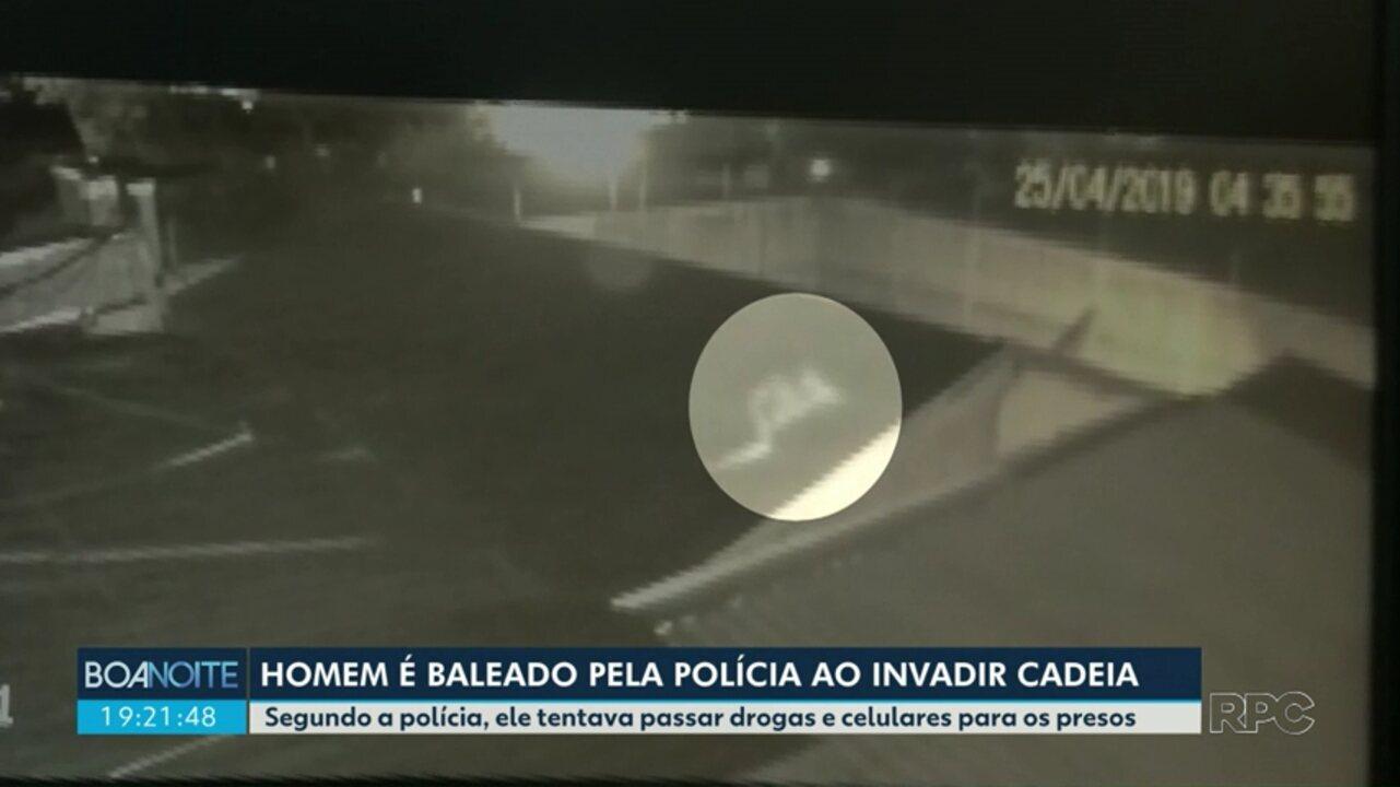 Homem é baleado ao invadir cadeia de Marialva
