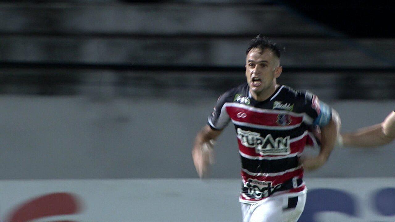 Os gols de Santa Cruz 2 x 0 Fluminense pela Copa do Brasil