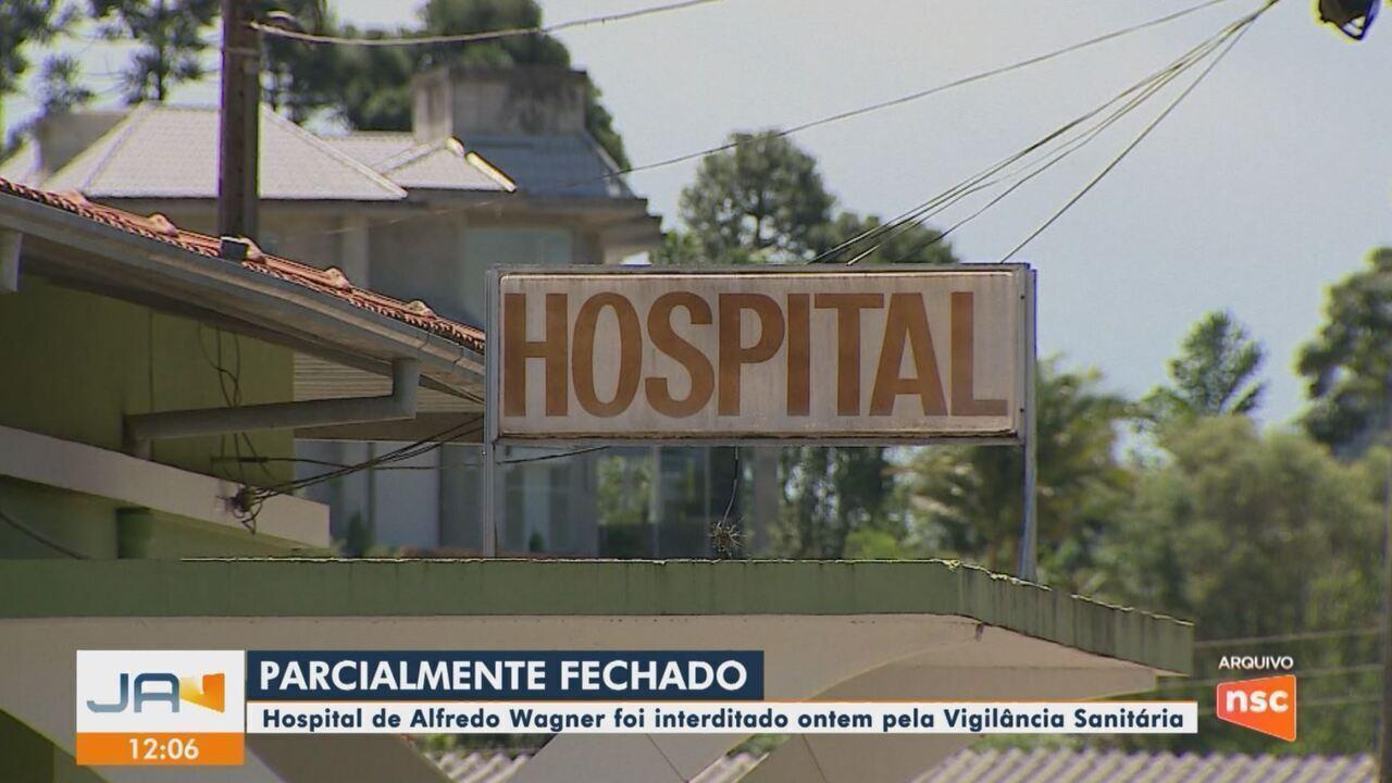 Vigilância Sanitária interdita hospital de Alfredo Wagner por falta de médico