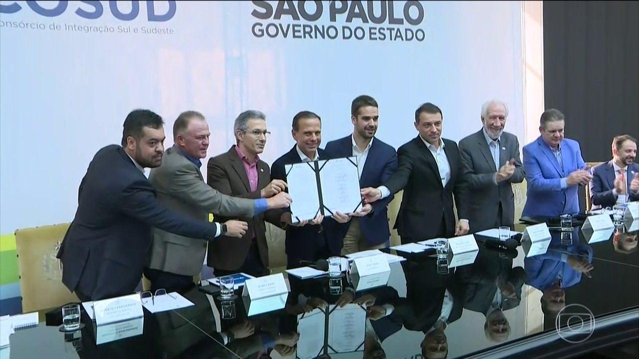 Governadores do Sul e Sudeste se reúnem em SP para discutir reforma da Previdência