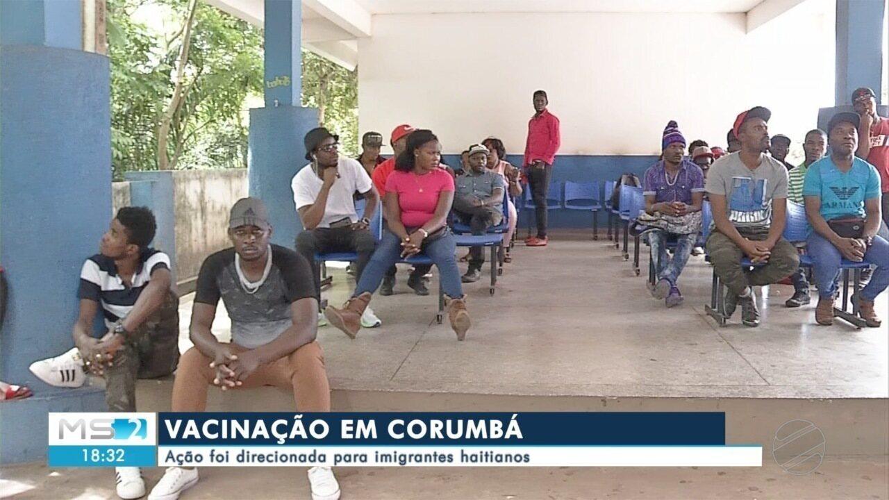 Município de Corumbá realiza mutirão para vacinar haitianos
