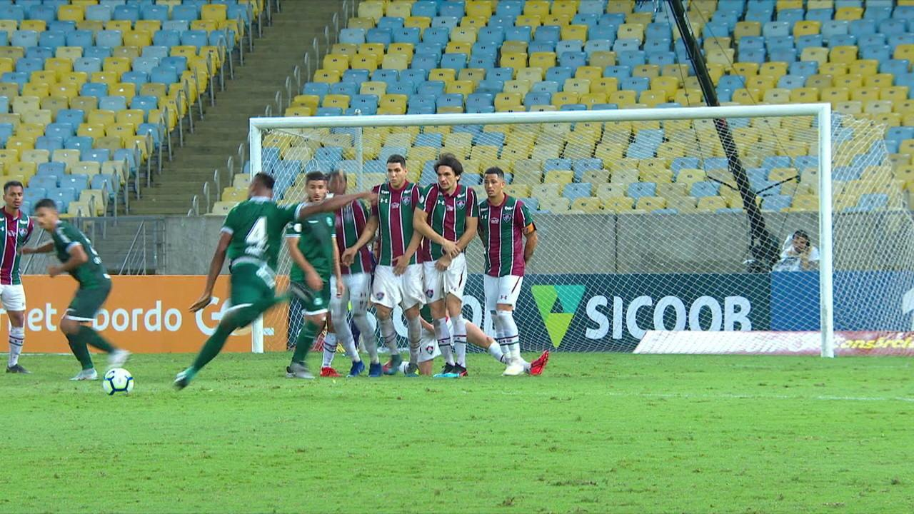 O gol de Fluminense 0 x 1 Goiás pela 1ª rodada do Brasileirão 2019