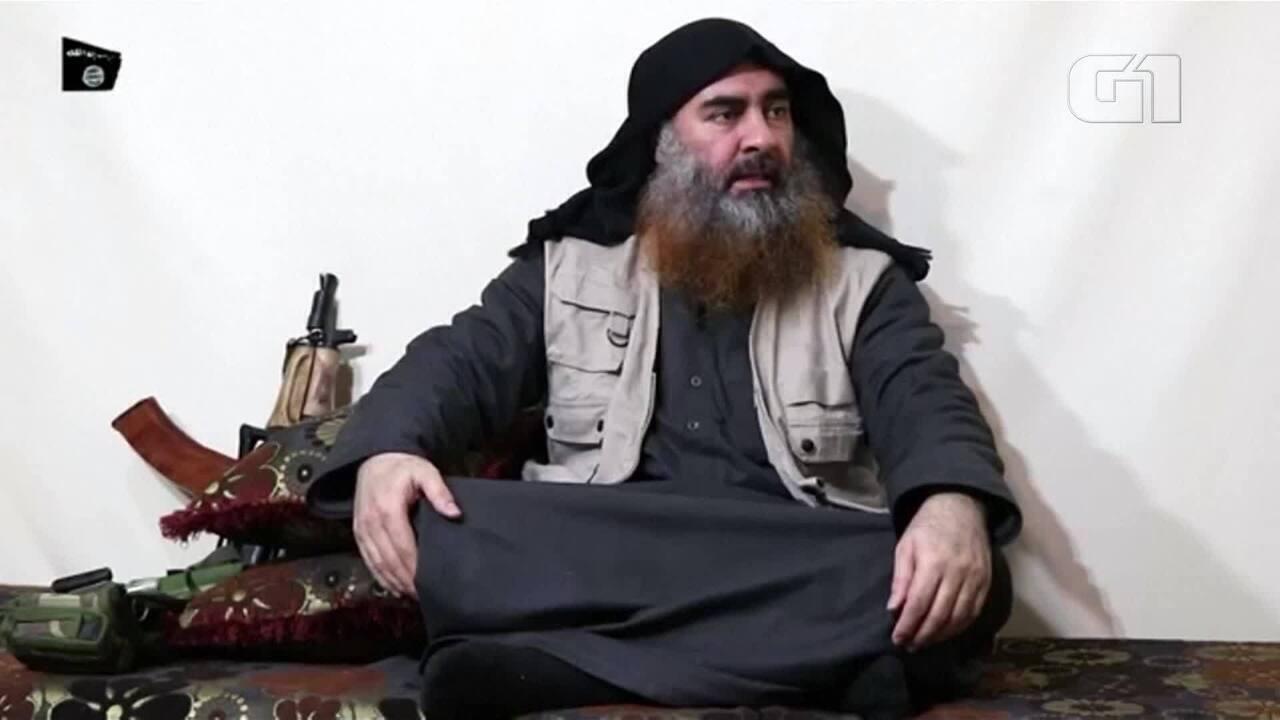 Abu Bakr al-Baghdadi, líder do Estado Islâmico, aparece em vídeo