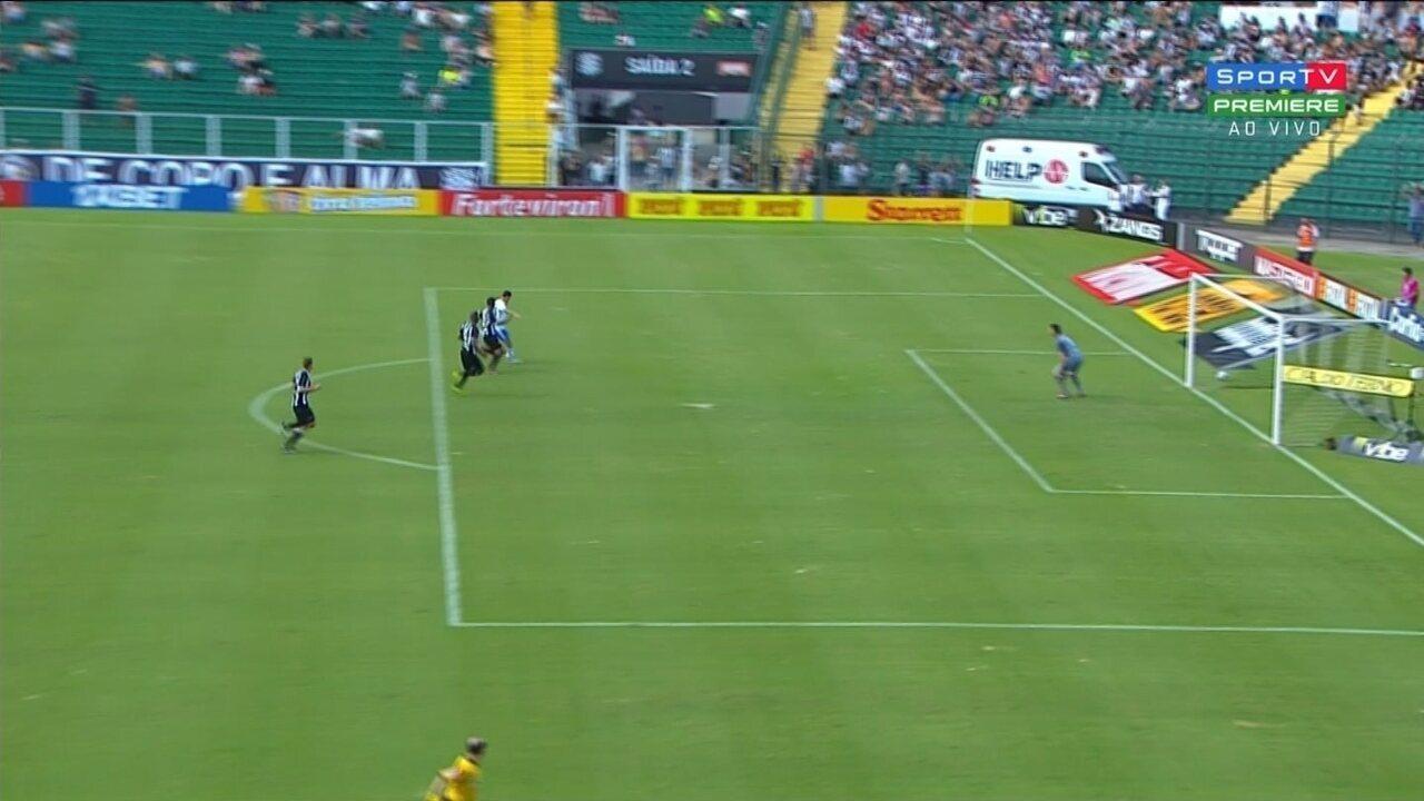 Gols entre Figueirense e São Bento pela Série B do Campeonato Brasileiro