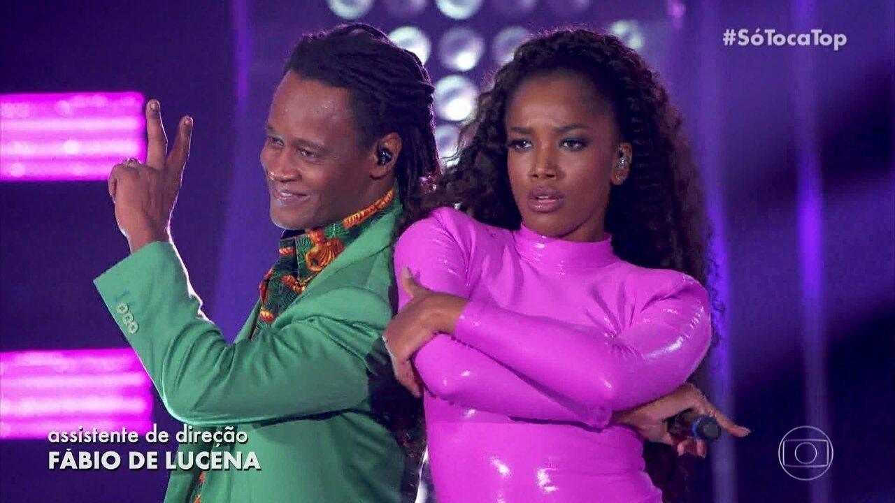 IZA e Toni Garrido cantam 'Não Vá Embora'