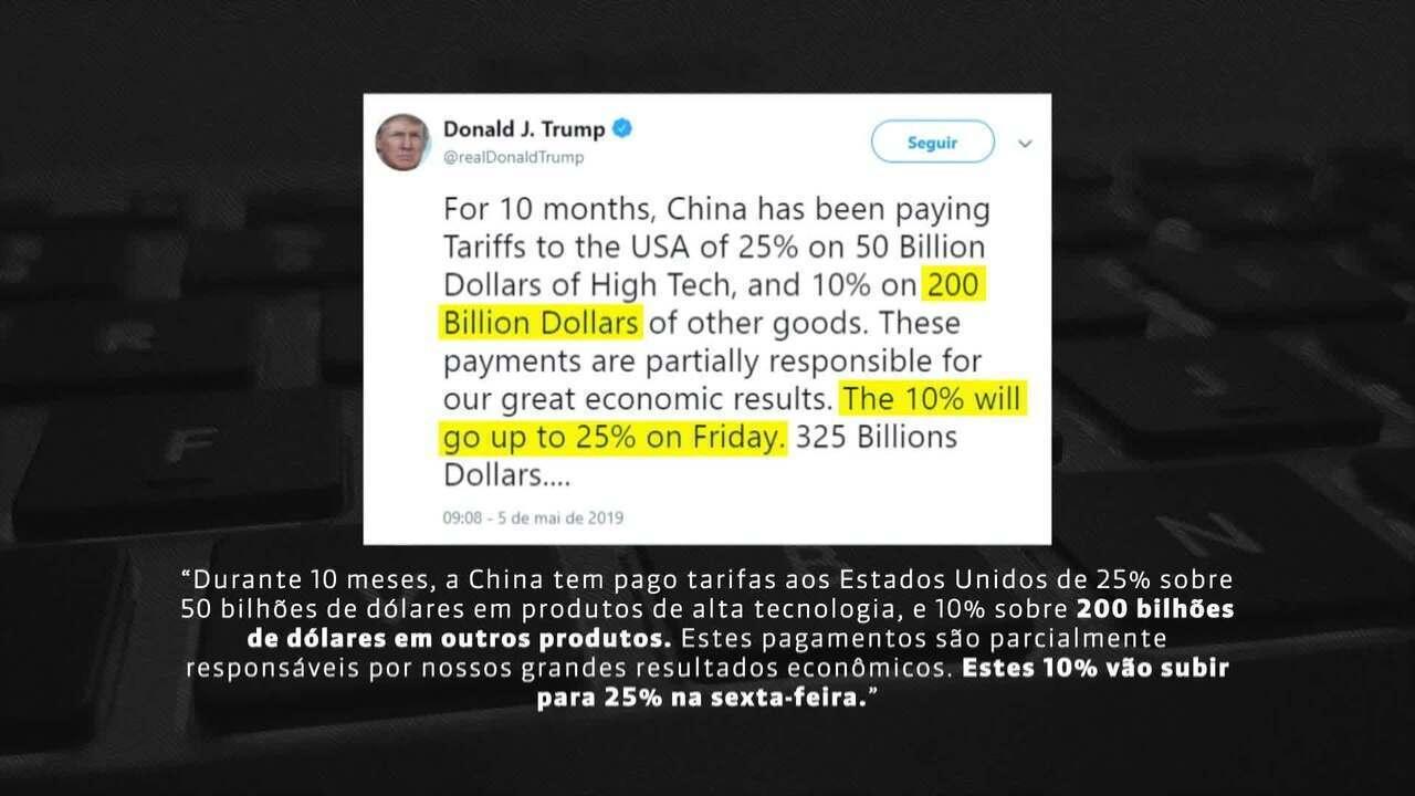 Bolsas despencam após Trump prometer taxar produtos chineses em 25%