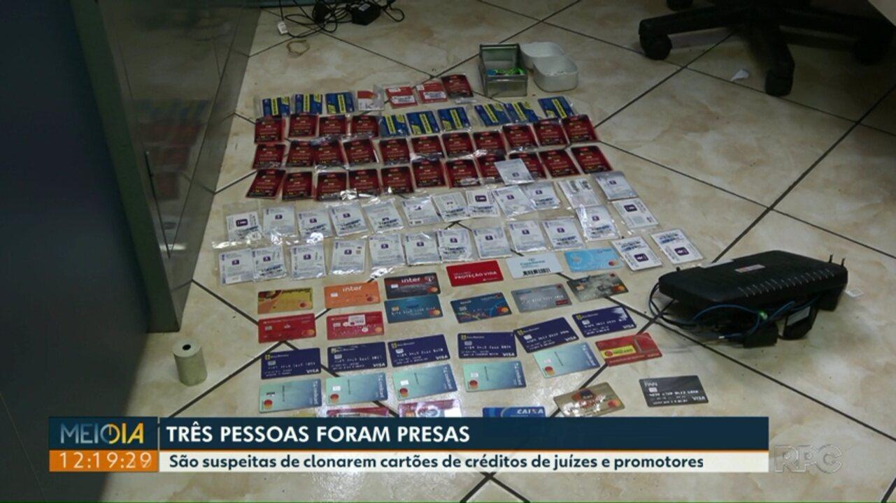 Três pessoas são presas suspeitas de clonarem cartões de créditos de juízes e promotores