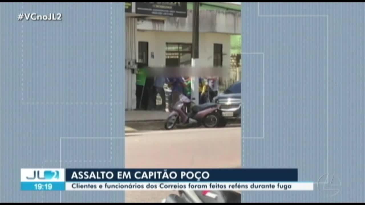 7603861 - Polícia resgata reféns após assalto à agência dos correios em Capitão Poço, no Pará