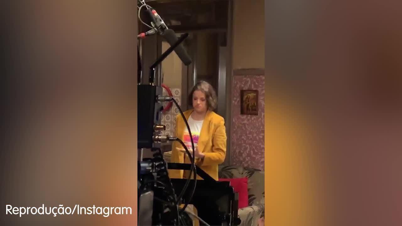Caio Castro mostra bastidores de gravação de A Dona do Pedaço