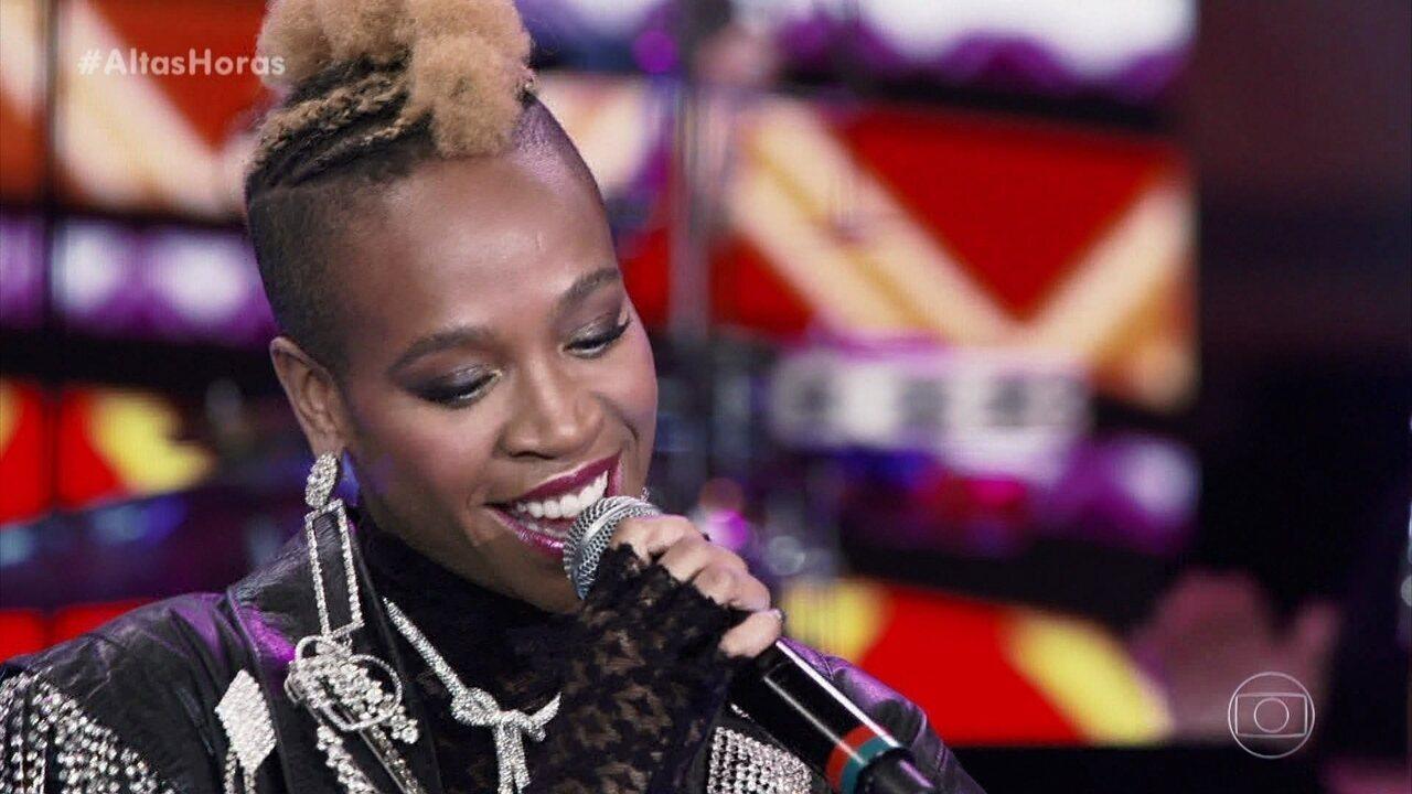 Karol Conka canta 'Mama África' no Altas Horas
