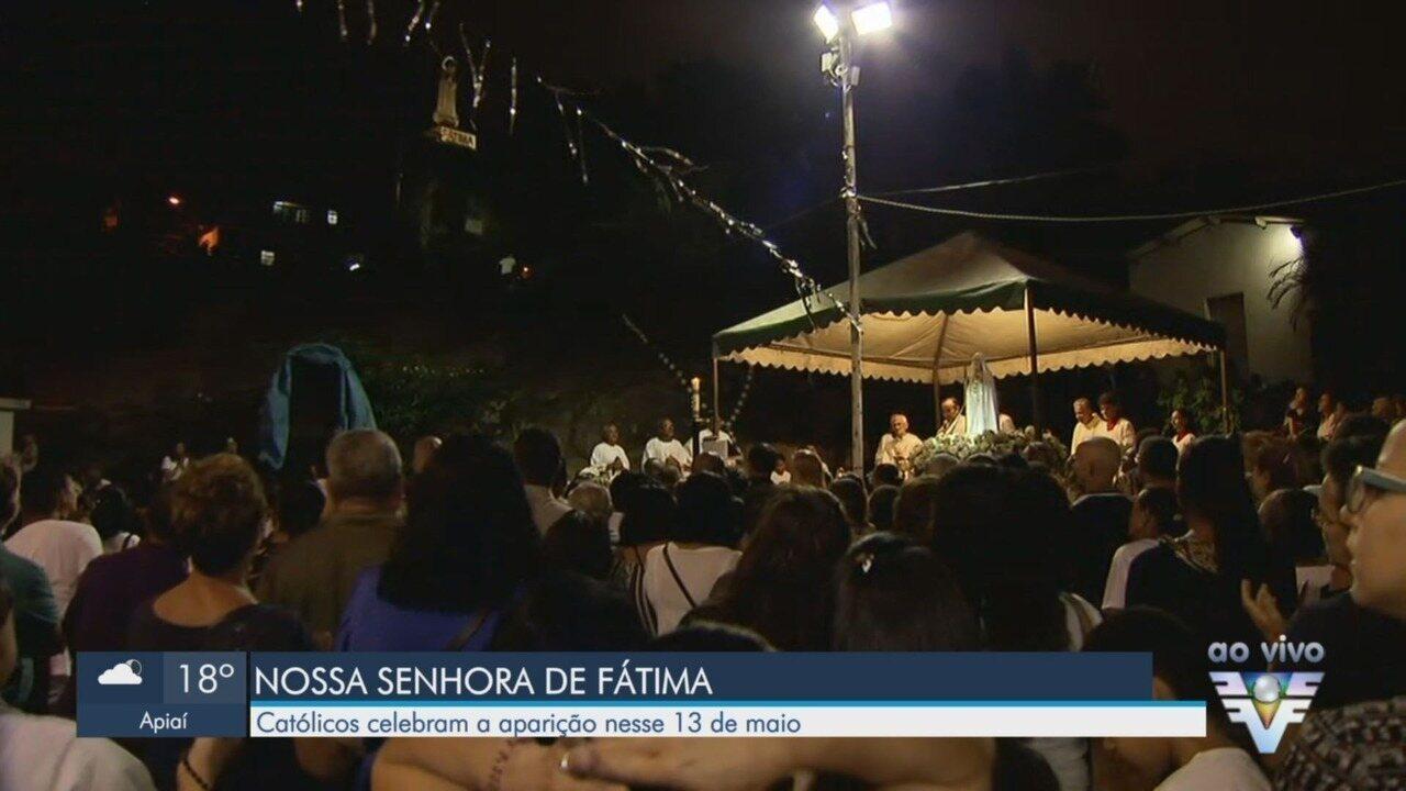 Católicos celebram aparição de Nossa Senhora de Fátima