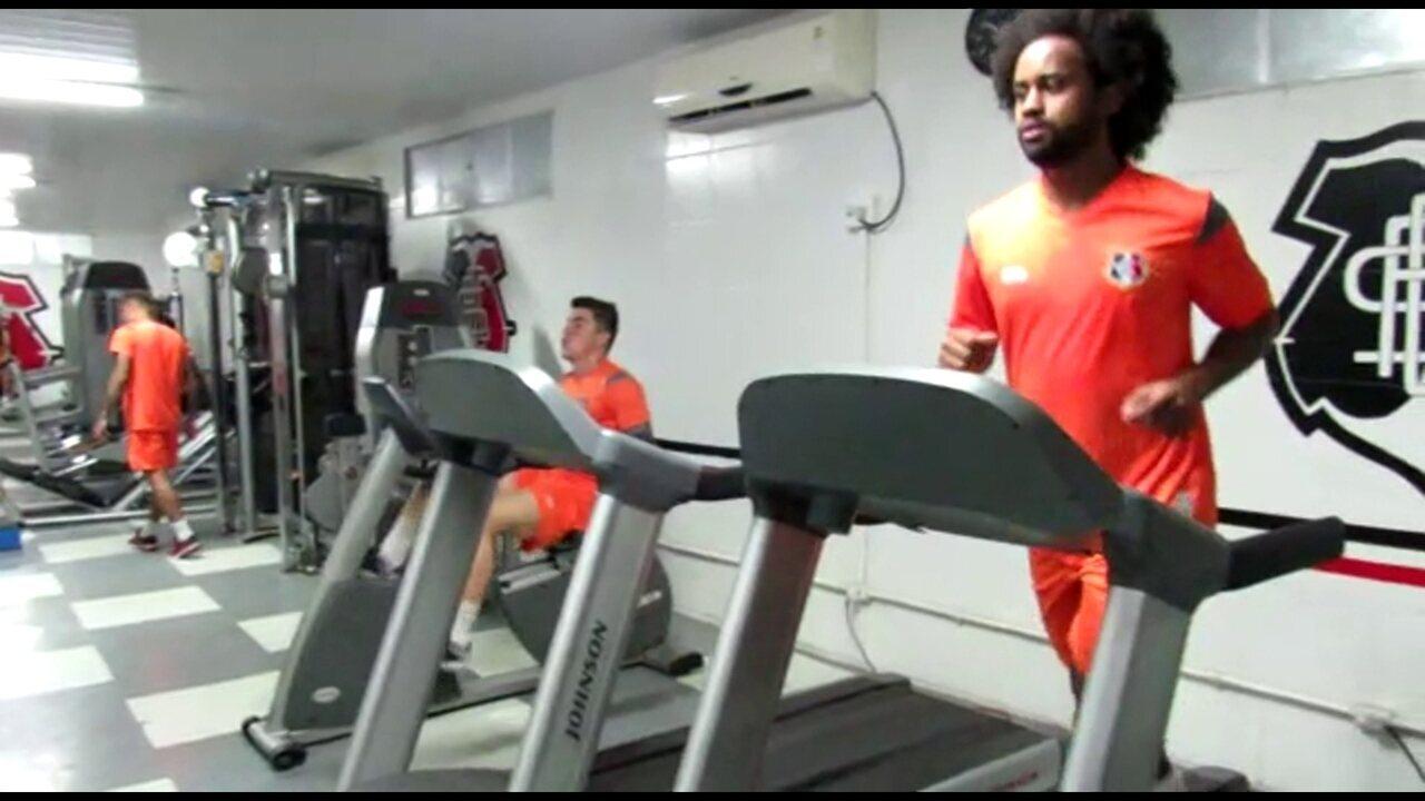 Celsinho faz primeiros trabalhos físicos no Santa Cruz