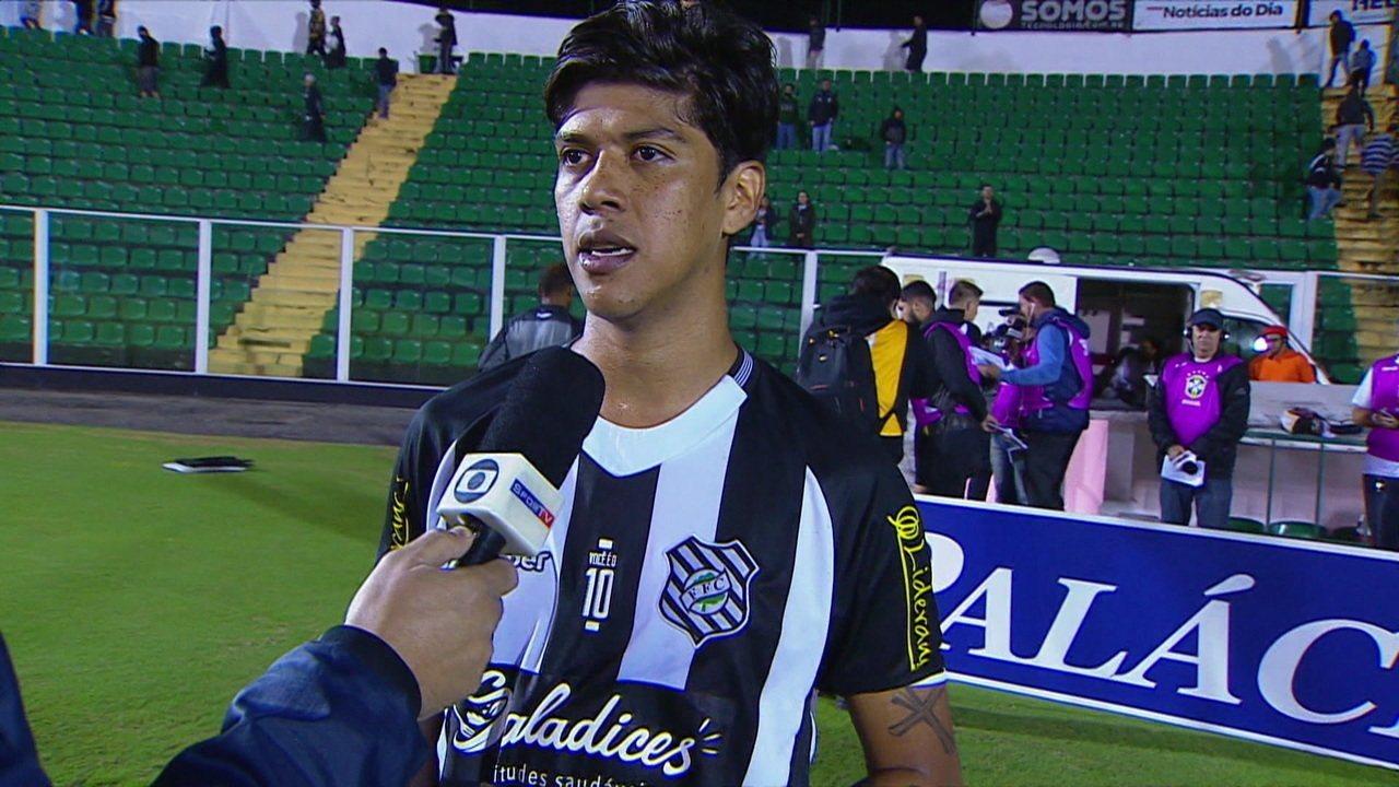 Betinho fala sobre a primeira vitória do Figueirense no campeonato